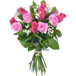 BOUQUET ROSES ET MUGUET CHANCE