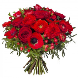 RUBY BOUQUET OF FLOWERS -...