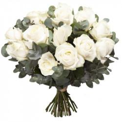 CORSICA WHITE ROSES BOUQUET