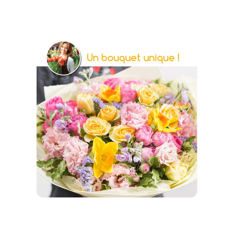 FLORIST BOUQUET - COLORED FLOWERS