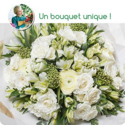 FLORIST BOUQUET - WHITE FLOWERS