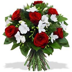 FLOWERS BOUQUET RUBIS ET DIAMANT