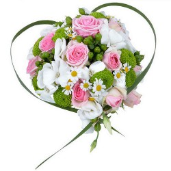 FLOWERS BOUQUET COEUR TENDRESSE