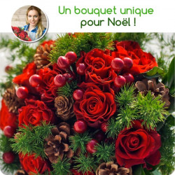 Bouquet du fleuriste de Noël - Tons rouges