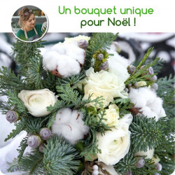 FLORIST BOUQUET FOR CHRISTMAS - WHITE TONES