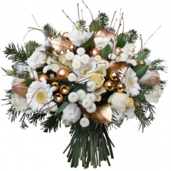 BOUQUET FOR CHRISTMAS - SNOW AND GOLD