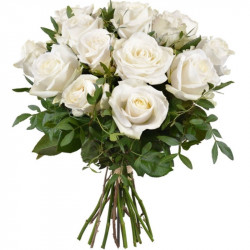 DOM-EXO WHITE ROSES BOUQUET