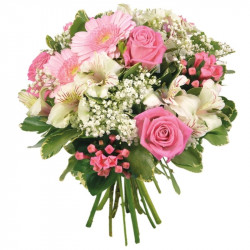 FLOWERS BOUQUET LA VIE EN ROSE