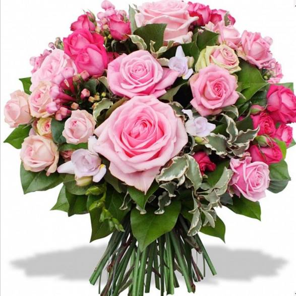 Bouquet de fleurs naissance MENVILLE