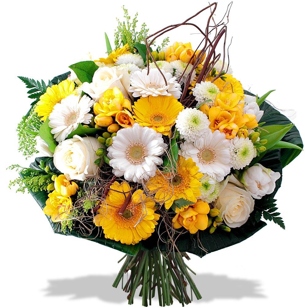 bouquet de fleurs felicitations