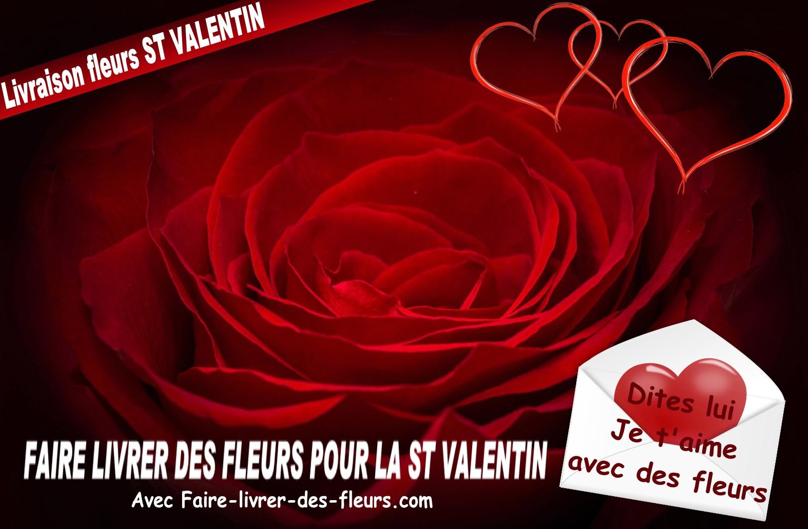 fleurs saint vanlentin - livraison fleurs saint valentin - envoi fleurs saint valentin - rose rouge pour la saint valentin