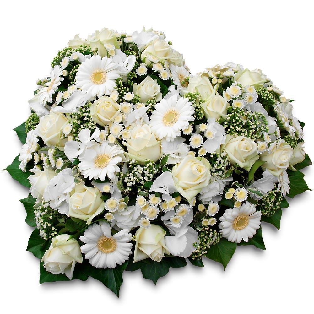 coeur de fleurs deuil