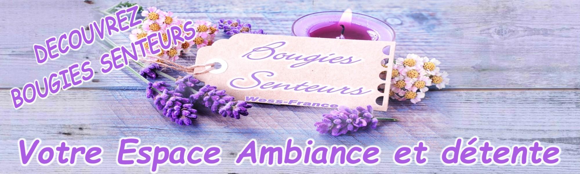 Bougies senteurs parfum d'ambiance